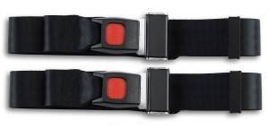 MG - TC - Seatbelt Planet - 1967-1969 MG TC, Driver & Passenger Seat Belt Kit