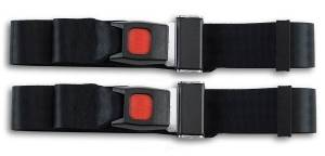 Seatbelt Planet - 1948-1961 Jaguar XK, Driver & Passenger Seat Belt Kit