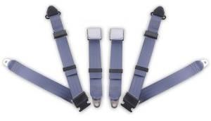 MG - TC - Seatbelt Planet - 1967-1969 MG TC, Driver & Passenger Seat Belt Kit - Bolt Down Anchors