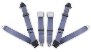 Seatbelt Planet - 1958-1971 Austin Healey Sprite, Driver & Passenger Seat Belt Kit - Bolt Down Anchors