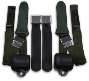 Plymouth - Satellite - Seatbelt Planet - 1965-1967 Plymouth Satellite Driver, Passenger & Center Seat Belt Conversion Kit