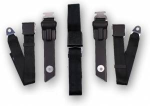 Seatbelt Planet - 1968-1970 Dodge Dart Driver, Passenger & Center Seat Belt Kit