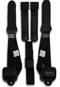 Plymouth - Barracuda - Seatbelt Planet - 1968-1969 Plymouth Barracuda Driver, Passenger & Center Seat Belt Conversion Kit