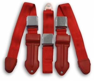 Dodge - Truck/Van - Seatbelt Planet - 1964-1967 Dodge A100 Cabover Pickup Truck/Van Driver, Passenger & Center Seat Belt Kit