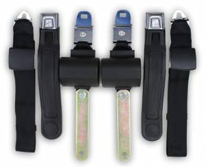 Plymouth - Scamp - Seatbelt Planet - 1971-1974 Plymouth Scamp Driver & Passenger Seat Belt Kit