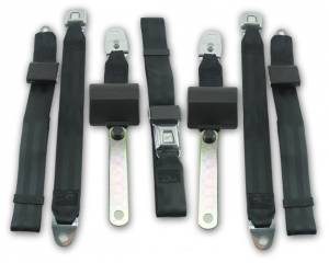 Plymouth - Scamp - Seatbelt Planet - 1971-1974 Plymouth Scamp Driver, Passenger & Center Seat Belt Kit