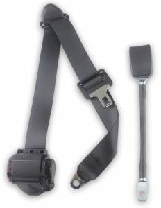 "Semi-Trucks - International - Seatbelt Planet - 1990-2002 International 4900, Driver or Passenger Seat Belt with 13"" Cable Buckle"