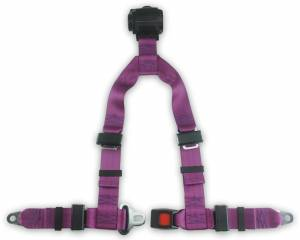 Seatbelt Planet - 4-point Retractable Y Harness with Push Button Buckle