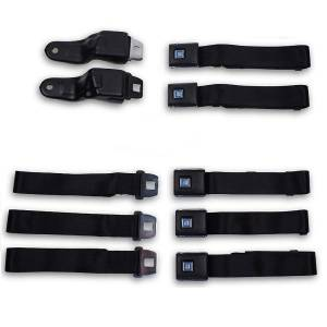Seatbelt Planet - 1967-1969 Chevy Camaro Front & Rear Lap Seat Belt Kit