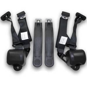Seatbelt Planet - 1966-1967 Chevy Chevelle Bucket Seat Retractable Lap & Shoulder Conversion Seat Belt Kit