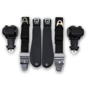 Seatbelt Planet - 1970-1971 Chevy Corvette Retractable Lap & Shoulder Seat Belt Kit