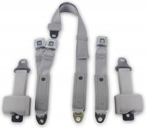 Chevy - Suburban - Seatbelt Planet - 1977-1987 Chevy Suburban, 2nd Row Driver, Passenger & Center Seat Belt Kit