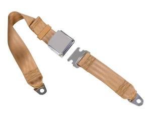 Tri-Five - 1955-57 Tri-Five Lap Belts - Seatbelt Planet - 1955-1957 Chevy Tri-Five, Rear Seat Belt