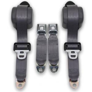 Seatbelt Planet - 1990-1993 Ford Mustang Fox Body Coupe Front Retractable Lap & Shoulder Seat Belt Kit