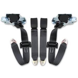 Pontiac - Firebird - Seatbelt Planet - 1993-2002 Pontiac Firebird Retractable Lap & Shoulder Seat Belt Kit