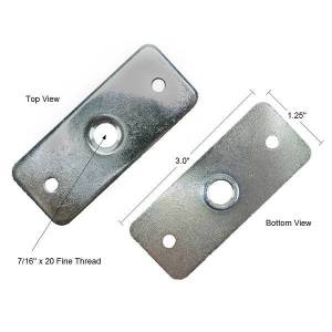 Seat Belt Mounting Bracket with dimensions
