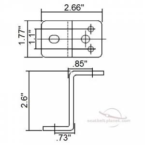 Z Bracket dimensions