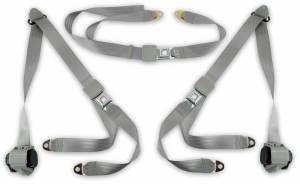 Seatbelt Planet - 1973-1987 GMC Truck, Standard, Cab Bench Seat Belt Kit
