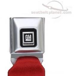 Seatbelt Planet - 2-Point Lap Retractable Seat Belt All Metal GM Logo Buckle - Image 2