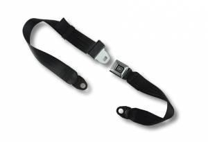 2-Point Lap Seat Belt All Metal GM Logo Buckle