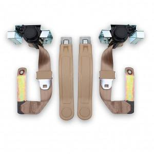 1974-1981 Chevy Camaro Front Seat Belt Kit with GM Logo Buckles