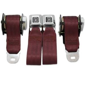 1974-1981 Chevy Camaro Rear Seat Belt Kit with GM Logo Buckle